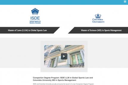 ISDE – Columbia Landing Page